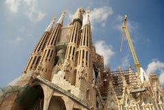 Sagrada Familia在巴塞罗那,西班牙 库存照片