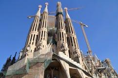 Sagrada Familia在巴塞罗那,西班牙 免版税库存照片