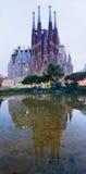 Sagrada Familia在巴塞罗那,西班牙 库存图片