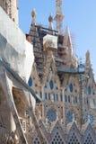 Sagrada Familia在巴塞罗那,西班牙 免版税图库摄影
