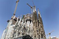 Sagrada Familia在巴塞罗那,西班牙 图库摄影