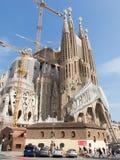 Sagrada Familia在2015年10月 图库摄影