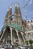 Sagrada Familia大教堂在巴塞罗那(西班牙) 免版税库存图片