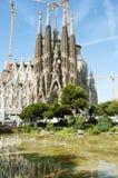 Sagrada Familia大教堂门面-巴塞罗那-西班牙 库存图片