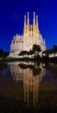 Sagrada Familia教会在巴塞罗那,西班牙 免版税图库摄影