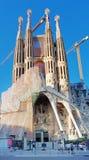 Sagrada Familia教会在巴塞罗那,西班牙 免版税库存照片