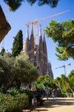Sagrada Familia教会-巴塞罗那,西班牙 免版税库存照片