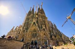 Sagrada Familia教会-巴塞罗那,西班牙 免版税库存图片