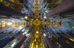 Sagrada Familia教堂中殿 免版税库存图片