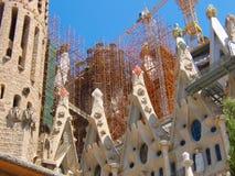 Sagrada Familia颜色要素 免版税库存图片