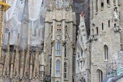 Sagrada Familia,大和现代天主教堂,在巴塞罗那,西班牙 免版税库存照片