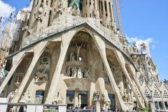 Sagrada Familia,大和现代天主教堂,在巴塞罗那,西班牙 图库摄影