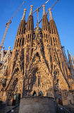 Sagrada Familia,大教堂由安东尼Gaudi设计了 图库摄影