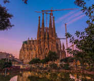 Sagrada Familia,巴塞罗那,西班牙 免版税图库摄影