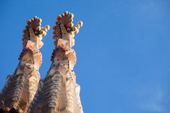 Sagrada Familia από το Antoni Gaudi στη Βαρκελώνη Ισπανία Στοκ Εικόνες