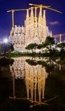 Sagrada Familia εκκλησία στη Βαρκελώνη, Ισπανία Στοκ Εικόνα