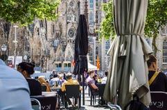 Sagrada Familia ναός στη Βαρκελώνη, Ισπανία Στοκ Φωτογραφίες
