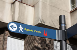 Sagrada Familia σημάδι Στοκ Εικόνες