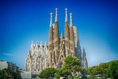 Sagrada Familia στη Βαρκελώνη, Ισπανία Στοκ Φωτογραφίες