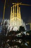 Sagrada Familia το βράδυ Βαρκελώνη Στοκ φωτογραφία με δικαίωμα ελεύθερης χρήσης