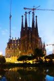 Sagrada Familia в заходе солнца Барселона Стоковые Фото