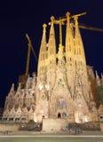 Sagrada Familia в ноче Стоковая Фотография RF