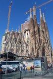 Sagrada Familia -巴塞罗那,西班牙 免版税库存照片