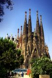 Sagrada Familia. Gaudi's most famous and uncompleted church in Barcelona, Spain