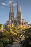Sagrada Familia. Catedral of Antoni Gaudi in Barcelona, Spain royalty free stock image