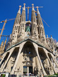 Sagrada Familia. Cathedral designed by Gaudi  in Barcelona Stock Images