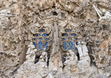 Sagrada familia. The right portal fragment Royalty Free Stock Photo