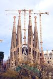 Sagrada Familia. In Barcelona, Spain designed by Gaudi.  Construction began in 1882 Royalty Free Stock Images