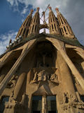 Sagrada Familia in the afternoon Royalty Free Stock Photo