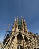 Sagrada Familia by Antoni Gaudi Stock Photos