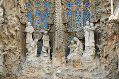 Sagrada Familia by Antoni Gaudi in Barcelona Stock Image