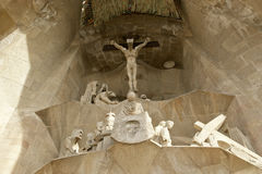 Sagrada Familia by Antoni Gaudi in Barcelona Stock Photo