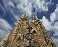 Sagrada Familia by Antoni Gaudi in Barcelona Royalty Free Stock Image