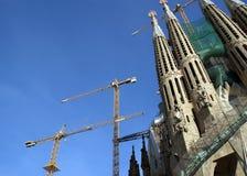 Sagrada Familia by Antoni Gaudi in Barcelona Stock Images