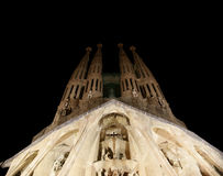 Sagrada Familia by Antoni Gaudi in Barcelona Royalty Free Stock Photography