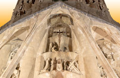 Sagrada Familia by Antoni Gaudi in Barcelona Royalty Free Stock Photo
