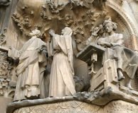 Sagrada Familia by Antoni Gaudi in Barcelona Royalty Free Stock Photos