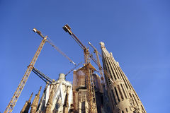 Sagrada Familia by Antoni Gaudi in Barcelona Royalty Free Stock Images