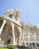 Sagrada Familia by Antoni Gaudi in Barcelona Spain. BARCELONA, SPAIN-APRIL 21:Basilica and Expiatory Church of the Holy Family commonly known as the Sagrada Fam royalty free stock photo