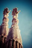 Sagrada Familia by Antoni Gaudi in Barcelona Spain Stock Photos