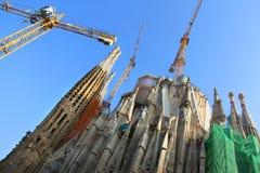 Sagrada Familia by Antoni Gaudi in Barcelona Royalty Free Stock Photography