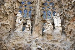 Sagrada Familia by Antoni Gaudi in Barcelona Spain Royalty Free Stock Images