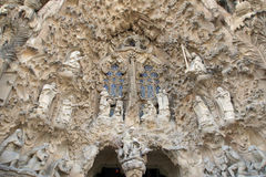 Sagrada Familia by Antoni Gaudi in Barcelona Spain Stock Images
