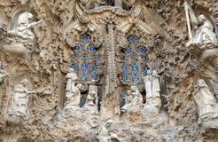 Sagrada Familia by Antoni Gaudi in Barcelona Spain Royalty Free Stock Image