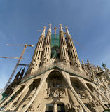 Sagrada Familia by Antoni Gaudi in Barcelona Spain Royalty Free Stock Photos