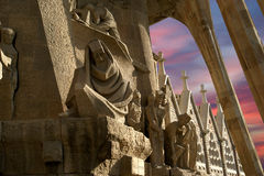 Sagrada Familia by Antoni Gaudi in Barcelona Spain Stock Image